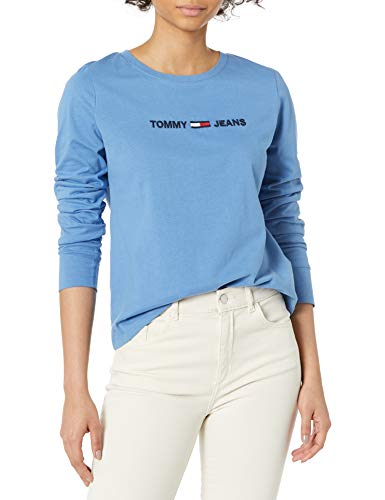Tommy Jeans Women's Long Sleeve Shirt, Black Foil, Large