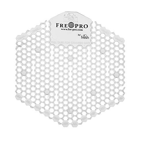 Fre-Pro Wave 3D Urinaalzeef, geurneutralisator, aangenaam geurend, Fresh zeef, spatbescherming, vermindering van de vuilafzetting, 100% recyclebaar 50 Stücke