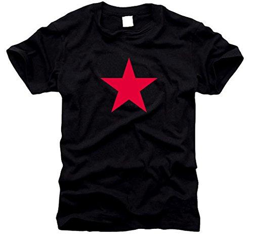 T-shirt étoile rouge – Red Star (noir) – Taille XL