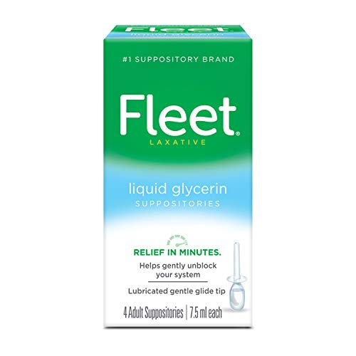 Fleet Liquid Glycerin Suppositories for Adult Constipation, 7.5 mL, 4 Bottles
