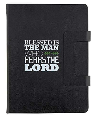 Faux Leather Blessed Is the Man Who Fears The Lord Psalm 112:1 Bible Verse Notebook Journal