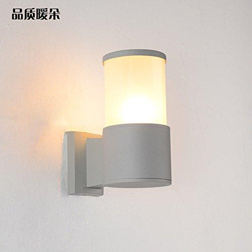 JJZHG Wandlamp, waterdicht, led-buitenwandverlichting, dubbelkop, eenpersoons, wandlamp, tuinwandlamp, waterdicht, schijnwerper, terrasverlichting, vloerlamp, enkele kop