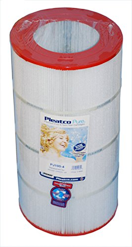 Pleatco PJ100-4 Replacement Cartridge for Jacuzzi CFR/CFT 100, 1 Cartridge