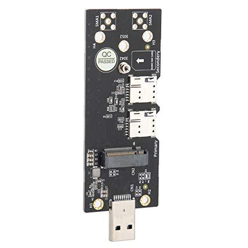 Mothinessto Tarjeta adaptadora USB 3.0 93mm Tipo A Conector Push Tarjeta SIM Dual para Escritorio