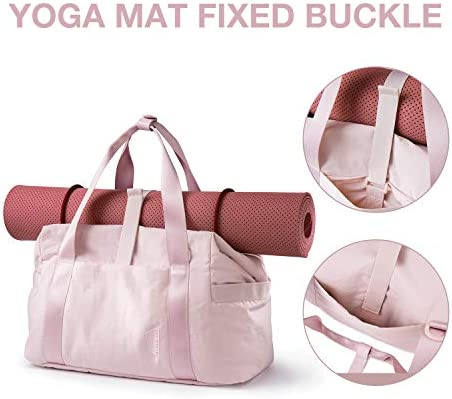 Weekender Bag, BAGSMART Travel Duffle Bag Carry On Bag Large Overnight Bag for Women, Pink