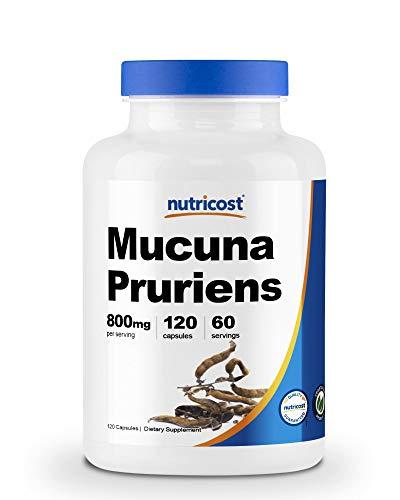 Nutricost Mucuna Pruriens 400mg, 120 Capsules - 800mg Per Serving, Veggie Caps, From Mucuna Pruriens Seed