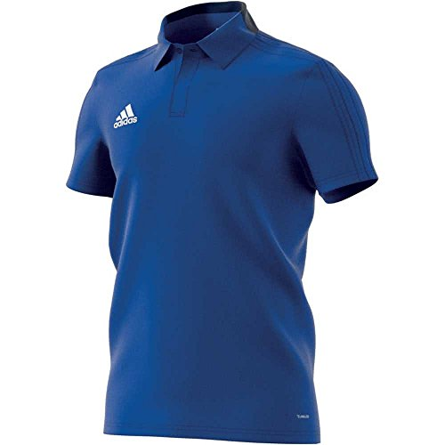 adidas Herren CON18 CO Polo Shirt, Bold Blue/Dark Blue/White, L