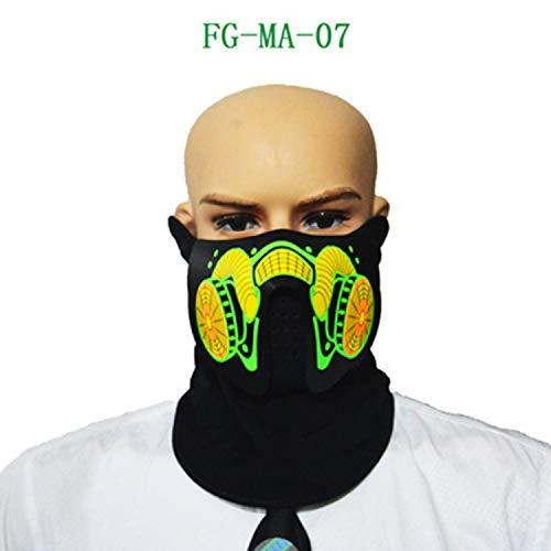 FairytaleMM Geluid Bediende Licht Emitting Mask FGMA07(Multi kleuren)