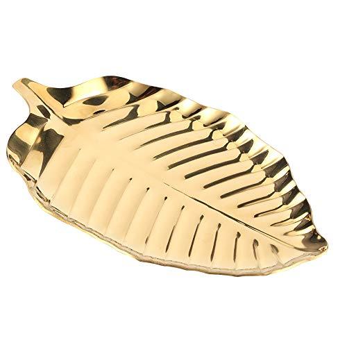 Plato para collar, bandeja de exhibición de joyería en forma de hoja...