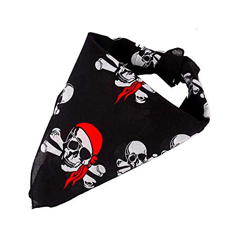 Beyond Dreams® 14 Stück Mundschutz Nasenschutz | Piraten Bandana | Mitgebsel | Piratenkostüm Piratentuch für Damen Kinder | Kopftuch für Herren Piratenparty | Piratenkopftuch als Give Aways
