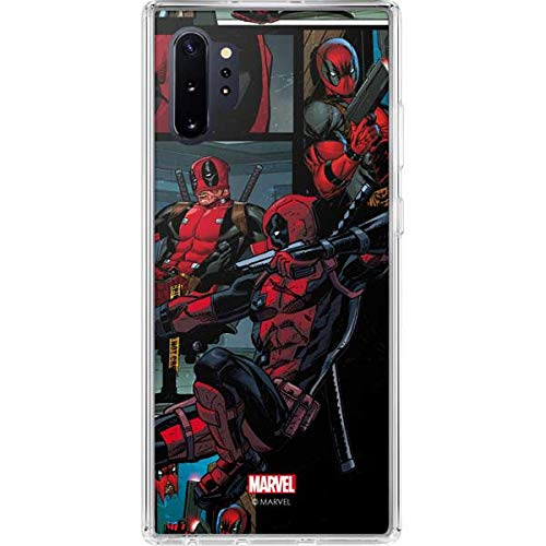 Skinit Clear Phone Case Compatible with Samsung Galaxy Note 10 Plus - Officially Licensed Marvel/Disney Deadpool Comic Design