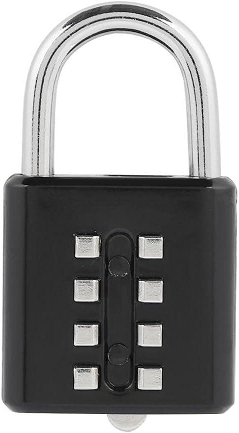 WNAVX Key Padlock 8 Dial Zinc Combination Password Digit Bombing new work Award