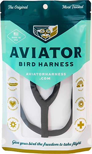 Le AVIATOR Oiseau Harnais: Petite Noir