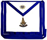 DEURA Masonic Past Master Apron EMBROIDERED Blue Lodge Fraternity DMA-1100