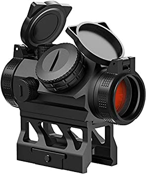 Feyachi V30 2MOA Red Dot Sight Auto On & Off 1x20mm Compact Reddot Optics with Low Profile and Absolute Co-Witness Mount Flip Up Lens Covers and Anti Reflection Device