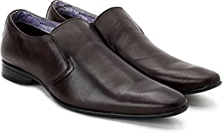 Provogue Men's Black Leather Formal Shoes-(6 UK)