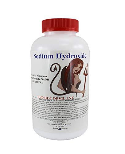 6 lb Red Hot Devil Lye Sodium Hydroxide Meets Food Chemical Codex High Grade...