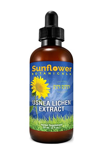 Sunflower Botanicals Usnea Lichen Extract, 2 oz. Glass Dropper-Top Bottle, Vegan, Non-GMO and All-Natural, Optimally Concentrated