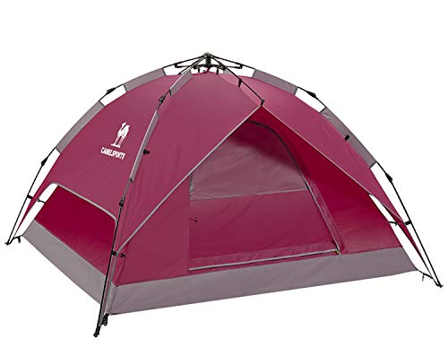 CAMEL CROWN 2-3 Person Tent Automatic Hydraulic Camping Dome Tent Outdoor Waterproof Tent Hiking Travel Beach Backpacking Tent