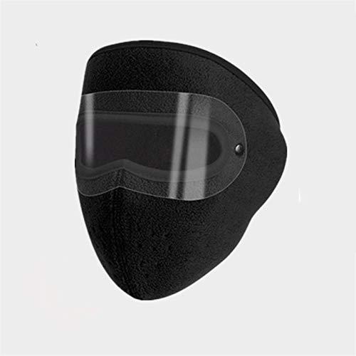LEIKEGONG Gafas, Protector Cálido, Facial, A Prueba De Polvo, Máscara De Vellón Polar Grueso, Protección Auditiva Transpirable para Montar, Cara Completa (Color : Black, Size : One)