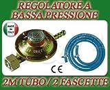 S & G REGOLATORE Bassa Pressione CUCINE STUFE Barbecue Gas + 2M di Tubo + 2...