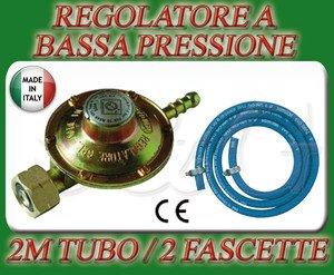 S & G REGOLATORE Bassa Pressione CUCINE STUFE Barbecue Gas + 2M di Tubo + 2 Fascette garantito Group