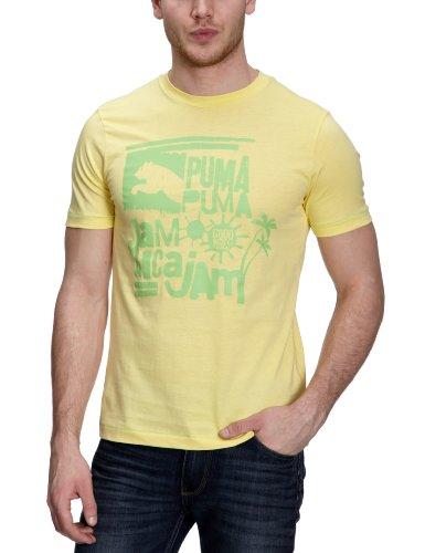 PUMA - Camiseta de Running para Hombre, tamaño M, Color Amarillo