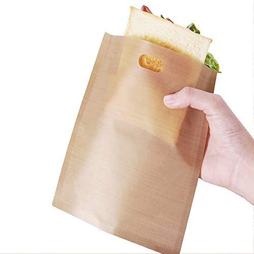 Bolsas para tostadora reutilizables, antiadherentes, bolsillos para tostadas, tostadas, tostadas, 19 x 17 cm, 15 unidades