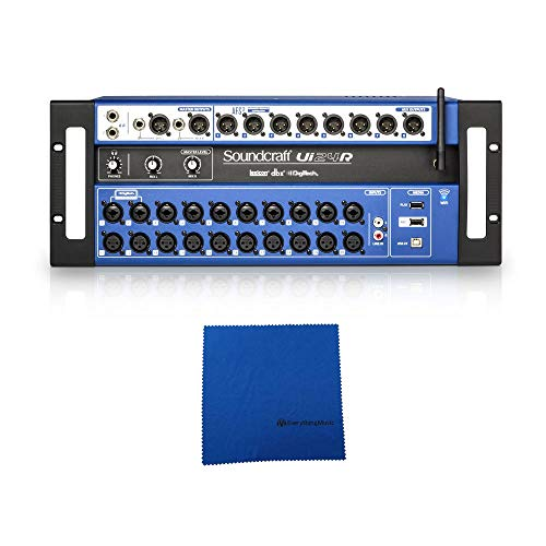 Soundcraft Ui24R 24-channel Digital Mixer/USB Multi-Track Recorder with Wireless Control and Microfiber