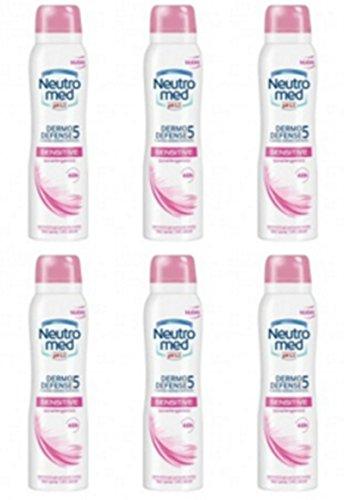 Neutromed Lot de 6 désodorisants pour corps en spray Sensitive Offre en stock neutre