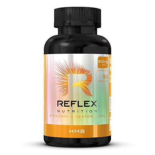 Reflex Nutrition HMB BCAA Supplement Calcium Beta-Hydroxy Beta-Methylbutyrate (90 Caps)