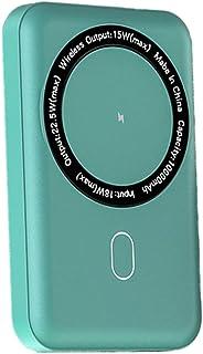 TWDYC Bärbar magnetisk powerbank 10 000 mah, 20 w Pd trådbundet externt batteri, 15 w trådlös snabbladdare, kompatibel med...