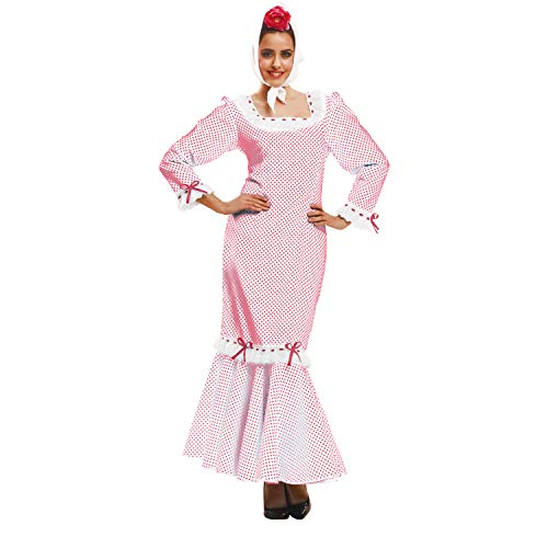 My Other Me - Disfraz de madrileña/chulapa para mujer, talla XL, color blanco (Viving Costumes MOM02328)