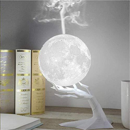 YBQ Humidificador 3D de la lámpara de la luna del humidificador con LED de 3 colores luz nocturna USB difusor de aromaterapia humidificador de escritorio del hogar (color: soporte de rama)