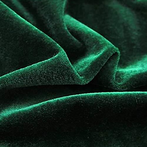 ZSYGFS 200 Cm De Ancho Tela De Terciopelo Suave para Coser De Chaquetas Decoración Decoración del Hogar Cortinas Tapicería Vestido Sillas Ropa Vendido por Metro(Color:Verde Oscuro)