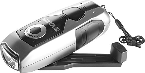 VARTA LED Dynamo Light (3x 5 mm, mit Handkurbel Taschenlampe Flashlight Handlampe Leuchte, mit Kurbel - 100{dea417f69ae32be8f8bdef543dbda48ce939072712945803ad5b654d59f38ff8} batterieunabhängig - geeignet für Auto, Garage, Notfall, Stromausfall, Camping, Outdoor)