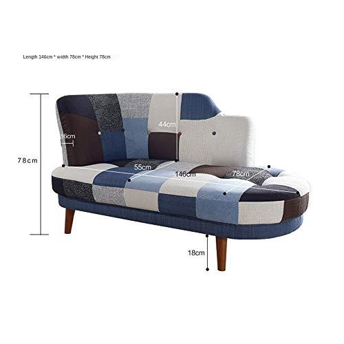 Sofa,sofa cama Coincidencia de color de la personalidad nórdica Sofá Silla japonesa Apartamento pequeño pequeño sofá doble combinación de moda Sofá cama doble hoja Apartamento pequeño dormitorio femen