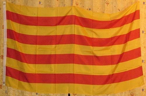 Bandera de Cataluña 90x 60cm Resistente a la intemperie y resistente a la luz para interior y exterior