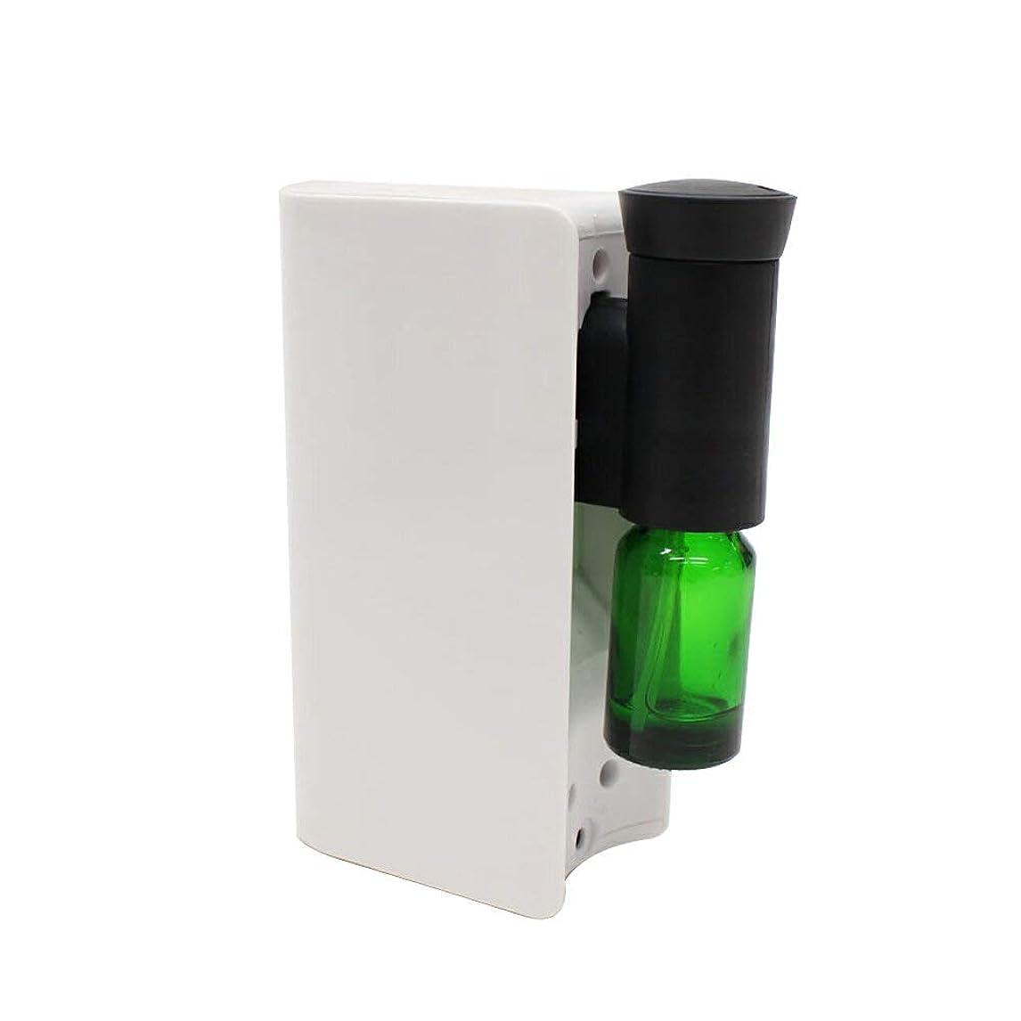 定数薄暗いアパートアロマ ディフューザー 電池式アロマディフューザー 水を使わない ネブライザー式 アロマオイル対応 自動停止 ECOモード搭載 香り 癒し シンプル コンパクト ホワイト