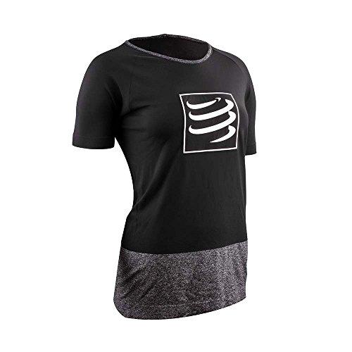 Compressport Damen Trainingsshirt Training Tshirt W Black Size XS, Schwarz, XS, TSTNW-SS99-0XS
