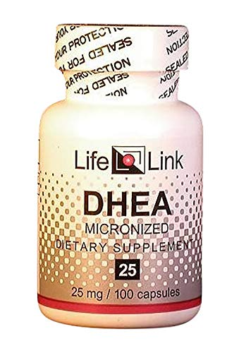 LifeLink's DHEA MonoDEA (dehydroepiandrosterone) 25mg - 100 Capsules Micronized to Support, Healthy Aging, Immunity System, Brain, Bones, Metabolism Hormone Levels & Lean Body Mass for Men & Women