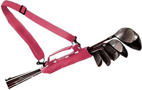 FINGER TEN Golfbag Mini Carrybag Tragebag Leichte für Herren Damen Kinder Golfschläger-Umhängetasche Travelite Blau Pink Schwarz 1 Pack or 2 Pack(Pink 2 Pack )