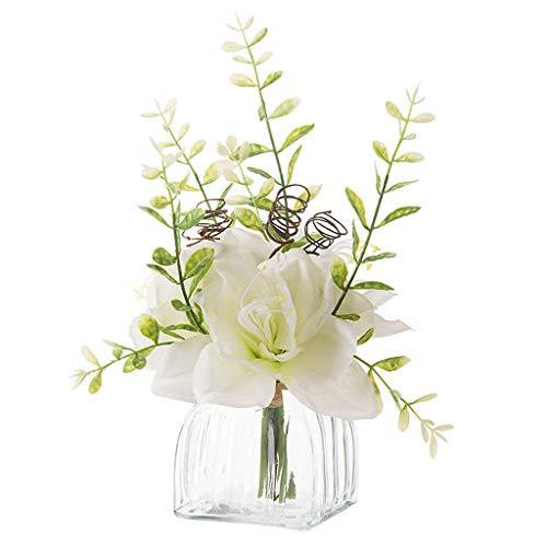 Moderne Simple kunstvezel doek Silk Flower Witte Bloemen met vaas Decoratie for Wedding thuiskantoor Table Party