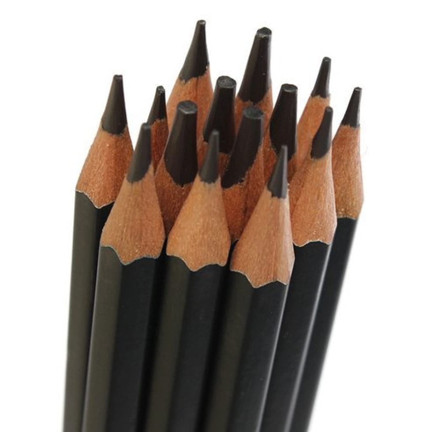 1dozen Creative Studio Graphite Sketch Set, B,2b,3b.4b,5b,6b,7b,8b,2h,hb (2B)