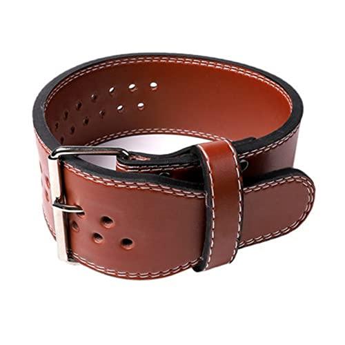 shuxuanltd Cinturon Gimnasio Hombre Cinturon Lastre Peso cinturón de formación Levantamiento de Pesas Correas Cinturón de Ejercicio para Gimnasio BodyBulding Brown,S