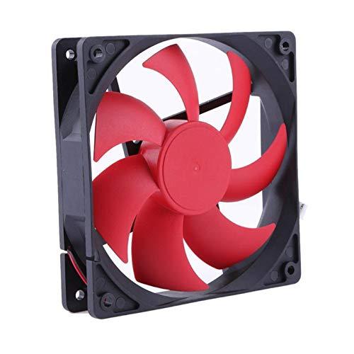 Tranquilo 12025 12 Cm Volumen De Aire Grande Ventilador De Energía 12V CHASIS DE COMPUTADORA DE CHASIS DE Tres-Hilo Ventilador DE ENFRIAMIENTO Fácil de Transportar e Instalar (Color : Red)