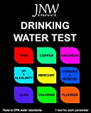 JNW Direct Drinking Water Test Kit for Lead, Iron, Mercury, pH, Hardness and More, Water Test Strips Kit for Testing to EPA Standards, Easy, Instant and Accurate