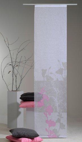 SEDEX DERISEE Flächenvorhang 58x245 cm Vorhang (Transparent/Weiß Bedruckt)