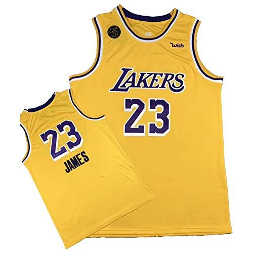 GHJK Finali 2020 KB Logo Pallacanestro Jersey, Lebron James 23#Cobe Bryant 24#Champions della Squadra di Los Angeles Laker Jersey, Fans Commemorare Regalo Non Missed yellow23-XXL