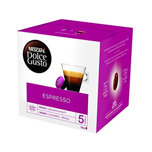 NESCAFÉ Dolce Gusto Café Espresso , Pack de 3 x 16 Cápsulas - Total: 48 Cápsulas de Café
